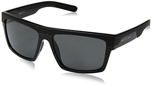 Native Eyewear El Jefe Sunglass, Matte Black/Gloss Black, -