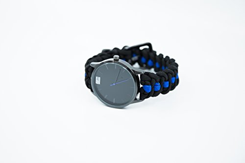 Blue Line Paracord Analog Watch by iHeartDogs | Stylish Survival Gift For Men and Women! | 20% of Sales are Donated to Provide Body Armor for K9 Police Dogs! by iHeartDogs