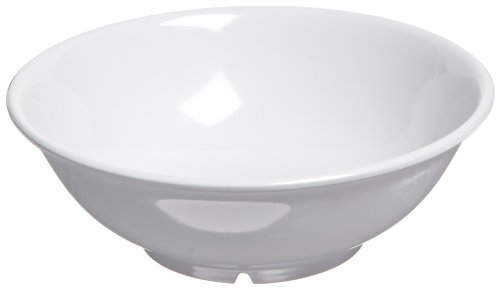 Carlisle 4373802 Melamine Footed Serving Bowl, 1.1 qt. Capacity, 8.63