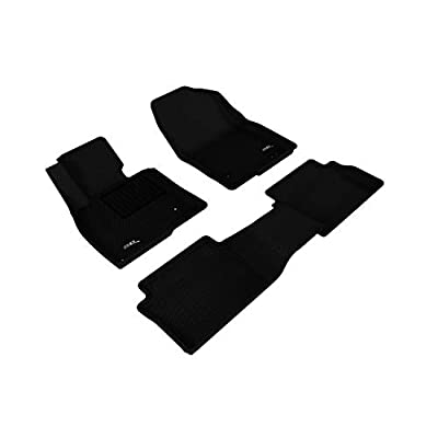 3D MAXpider Mazda 3 Mazda3 2014-2020 Custom Fit All-Weather Car Floor Mats Liners, Kagu Series (1st & 2nd Row, Black): Automotive