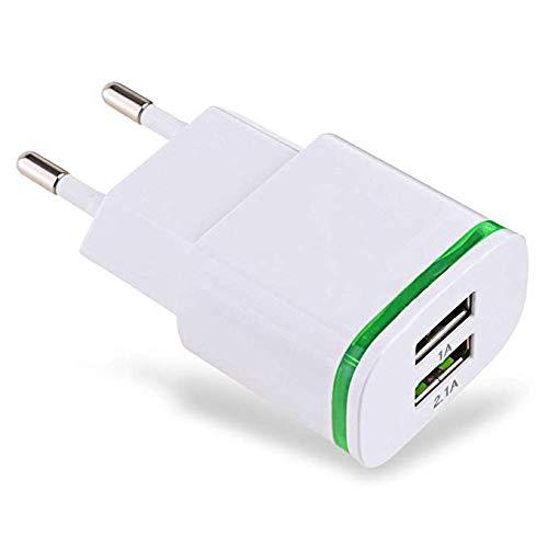 Ideapark Cargador de Pared USB Adaptador de Enchufe Doble Puerto ...