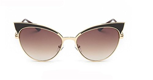 GAMT Plastic Frames Brand Design Cat Eye Sunglasses Gold box double - Fake Sunglasses Name Brand
