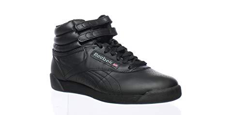 Reebok Womens Freestyle Hi Black Fashion Sneaker Size 4 ()