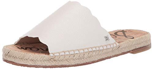 Sam Edelman Women's Andy Sandal, Bright White Leather, 8 M US