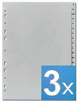'5Star della Lettera Register A-Z DIN A4, altezza completa, Grigio 5 Star