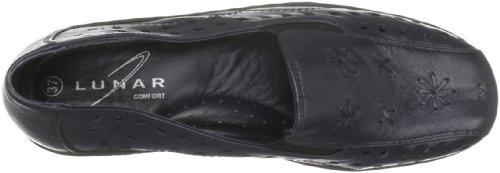 Lunar Flh309 - Zapatillas de casa de cuero mujer azul - azul marino