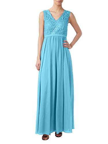 Rock Abendkleider Brautmutterkleider Partykleider Blau Marie Lang Attraktive Braut Linie La Chiffon Spitze A pgPxXw