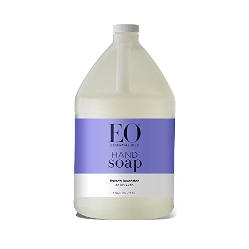 EO Botanical Liquid Hand Soap Refill, French Lavender, 128 Fluid Ounce (1 Gallon) (Bottle Gallon 1 Oz 128)