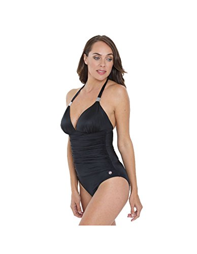 Seaspray SY006351A Women's Black Solid Colour Costume One Piece Swimsuit 16 by Seaspray