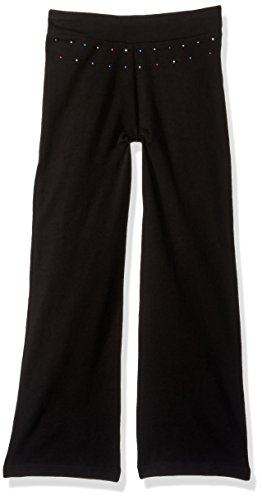 Jacques Moret Big Girls' Basic Dance Pant, Black Bootleg, Medium - Separates Basic Pant