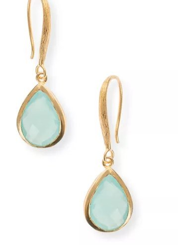 062c88a9a Buy Vezoora Aqua Chalcedony drop earrings Online at Low Prices in India    Amazon Jewellery Store - Amazon.in