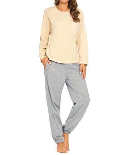 Women Pajamas Set Ladies Pajamas Pjs Long Sleeve Top and Pants Sleepwear Lady Jogging Style Nightwear Soft Lounge Sets