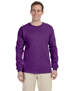 Gildan Ultra Cotton 6 Oz. Long-Sleeve T-Shirt (G240)- Purple,Large ()