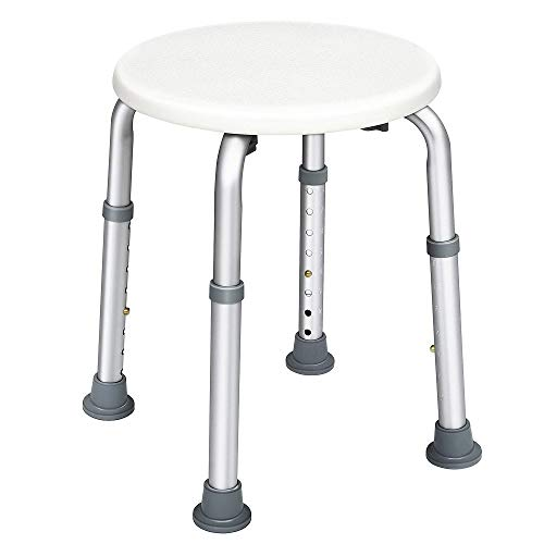 HAIRBY Bathtub Shower Stool for Handicapped and Seniors, Lightweight Bath Chair, -
