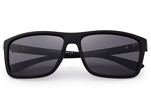 2be1e24a30a47 MERRY S Men Polarized Sunglasses Fashion Male Sun glasses 100% UV Protection  S8225 (Matte Black