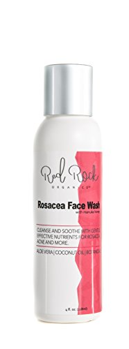 Facial Redness Remedy - Rosacea Face Wash - Natural Facial Cleansing Treatment for Redness Relief, Sensitive Skin – (4 oz) by Red Rock Organics