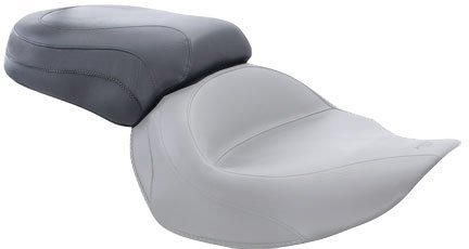 Mustang 76125 Wide Touring Vintage Non-Studded Rear Seat for Yamaha Cruisers - Mustang Seat Stud Wide