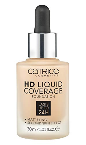 Catrice HD Liquid Foundation (030 Sand Beige) - High & Natural Coverage, Vegan