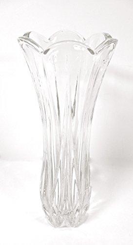 Mikasa Crystal Vase,Petal Top,9