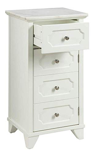 ACME Furniture 97538 Cabinet, Marble & White