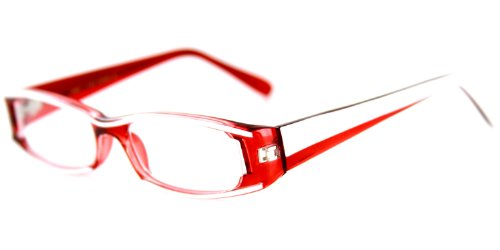 Dynamo Fashion Reading Glasses with Unique Colorful Frames for Youthful, Stylish Men and Women (Red/White +1.75)