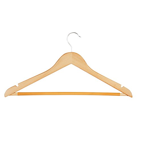 Honey-Can-Do HNG-01366 Maple Wood Suit Hanger