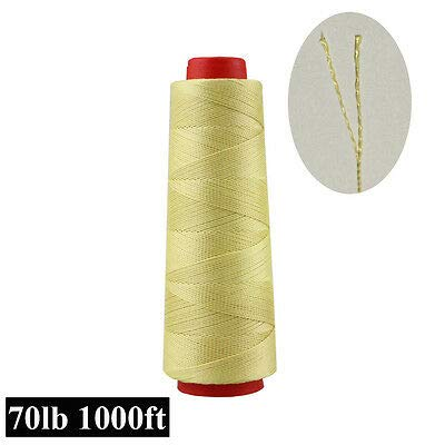 FidgetKute Heavy Duty 1000ft Test 70-200lb 100/% Kevlar Sewing Thread Line Heat Resistant 100lbs One Size