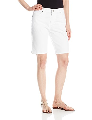 Lee Women's Relaxed Fit Bermuda Short, White, 18