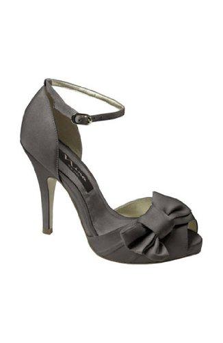 Nina Women's Electra Stilettos,Steel Luster Satin,5 M US (Satin Steel Luster)