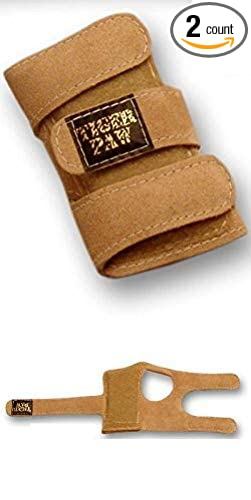 8e61dfe355bb Tiger Paws Gymnastics Wrist Support Wraps | Comfortable & Low Profile Tan  Suede Injury Prevention