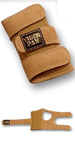 Tiger Paws Gymnastics Wrist Support Wraps | Comfortable & Low Profile Tan Suede Injury Prevention | Featuring Adjustable Inserts (Small (69 lbs - 115 lbs))