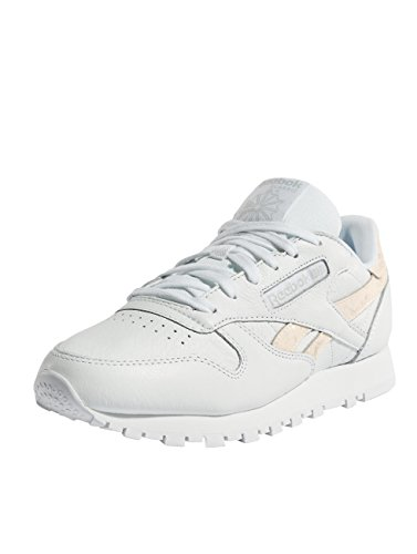 Reebok Women's Cl Lthr Gymnastics Shoes White (Sidestripes/White/Lgh Grey Sidestripes/White/Lgh Grey) zASyB3AT