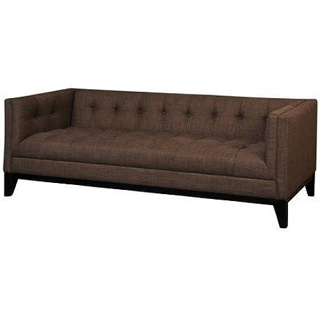 Pangea Home Z 3 Z Lorenzo 3 3 Seater Sofa In Fabric Brown