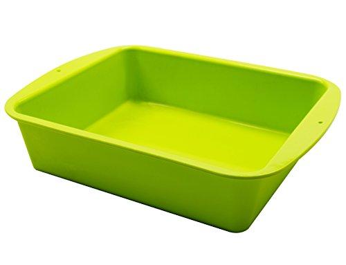 Marathon Housewares KW200015GR Premium Silicone Deep Dish Casserole Pan, Green