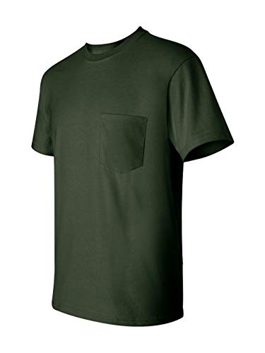 Gildan G2300 100% Cotton Pocket Tee - Forest Green - XL ()