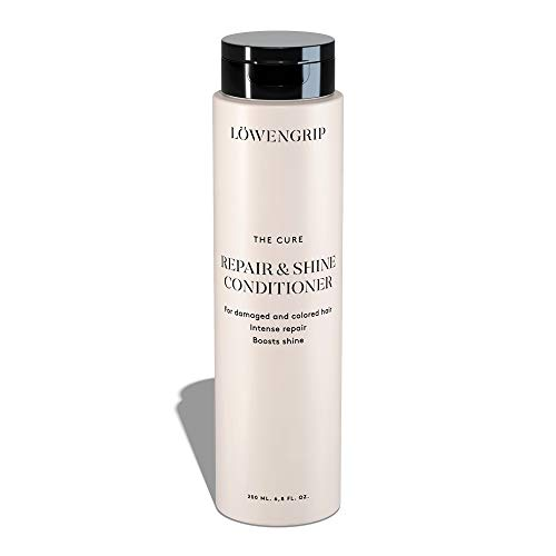 - Löwengrip The Cure Repair & Shine Conditioner - Wheat Protein & Castor Oil. Adds Shine. Nourishes & Rehydrates Chemically Treated, Damaged Hair. Sweden's Fastest Growing Beauty Brand - 200 ml
