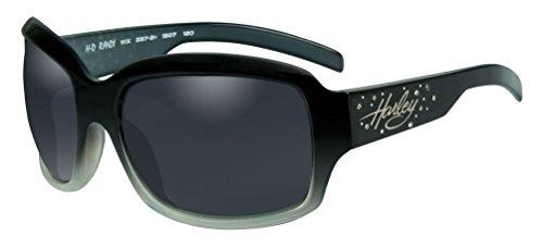 Harley-Davidson Womens Rhinestone Randi Sunglasses,Fade Lens/Black Frame - Women Davidson Harley Sunglasses For