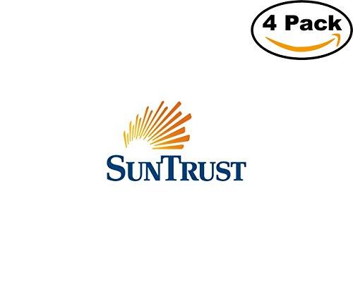 Suntrust Banks 4 Stickers 4X4 Inches Car Bumper Window Sticker Decal