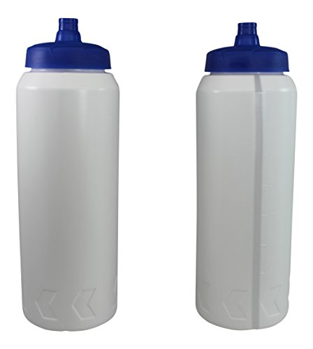 Pro Sports Plastic Water Bottles with Squeeze and Drink Cap 32oz Bpa Free 2 Bottles