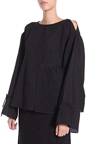 3.1 Phillip Lim Fashion Woman F1712329CSGBA001 Black Silk Blouse | Season Outlet