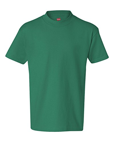 Hanes Authentic Tagless Kid`s Cotton T-Shirt Kelly Green