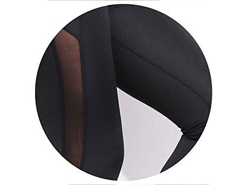 Our ideas Women Leggings Side Mesh Elasticity Work Out Pants Heart High Waist Leggings Women,Black,XL