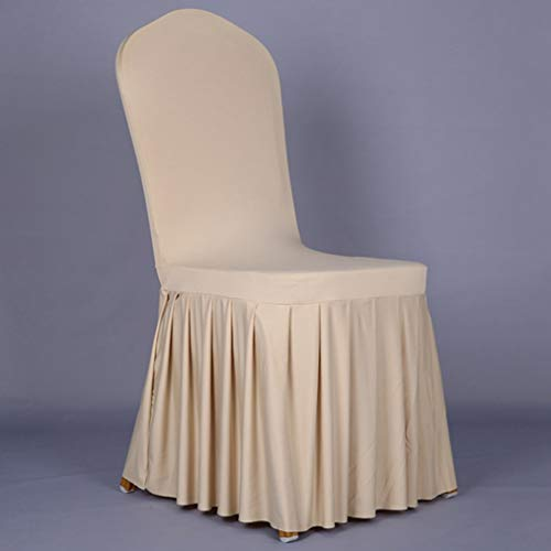 - ROGEWIN Chair Covers Stretch Spandex Weddings Pleated Long Back Hotel Supplies Dining Room Generous and Beautiful Slipcover