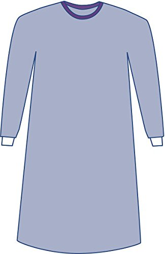 Medline DYNJP2002S Sterile Non-Reinforced Sirus Surgical Gowns with Set-In Sleeves, X-Large, Blue (Pack of 20) by Medline