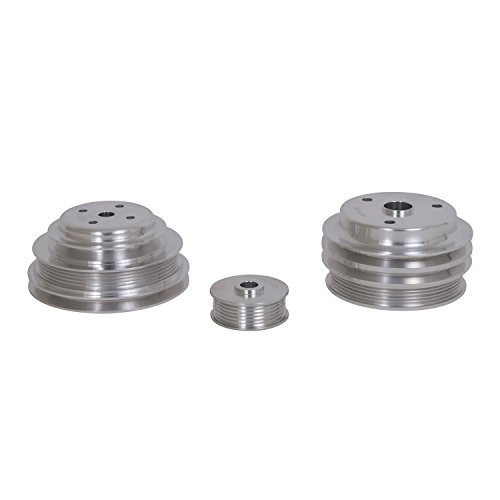 BBK 1598 Underdrive Pulley Kit for GM 305/350 F-Body/Truck - 3 Piece CNC Machined Aluminum by BBK Performance