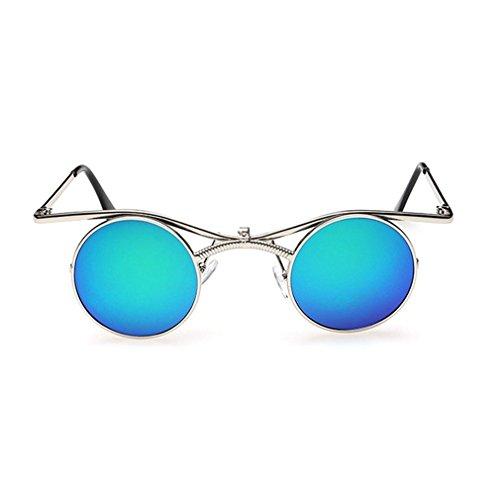 LOMOL Retro Trendy Steampunk Flip Lens UV Protection Personality Round - Sunglasses Eagle Eyes Buy Where To