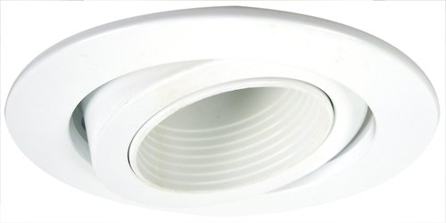 "Baffle Deep Trim (Elco Lighting EL2689WW 3"" Die cast Adjustable Deep Baffle)"