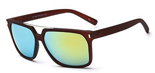 Classical UV Protection brown Sunglasses with Reflect Light Colored - Smart Uk Sunglasses