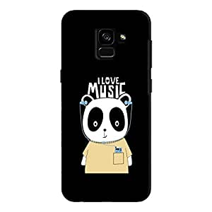 Cover It Up - Music Panda Galaxy A8 Plus Hard Case