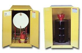 - Justrite, Horizontal Drum Storage, H25662, Size H X W X D: 50 X 30 X 48